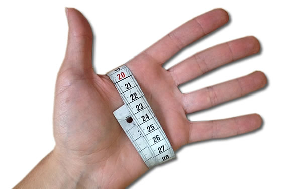 Handumfang Handschuhe