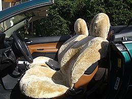 lammfell autositzbezug - peugeot 206 cc und 3er bmw