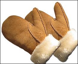 KANINCHENFELL SCHWARZ Damen Handschuhe Fellhandschuhe schwarz Fausthandschuhe